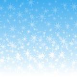 a neve branca voa Foto de Stock Royalty Free