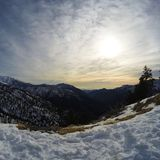 Neve in California del sud Immagini Stock Libere da Diritti