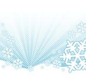 Neve che cade sul paesaggio Fotografie Stock