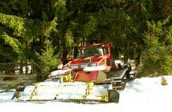 Neve che governa incidente a macchina Fotografie Stock