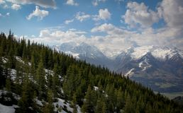 Neve che scompare nelle alpi austriache Fotografie Stock