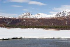 Neve che si fonde sull'intervallo di Alaska Fotografia Stock Libera da Diritti