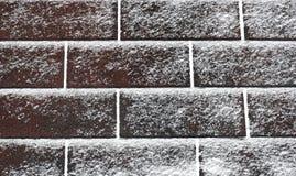 Neve chiara sulle assicelle Immagini Stock Libere da Diritti