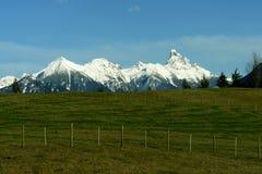 A neve cobriu a montanha Fotografia de Stock Royalty Free