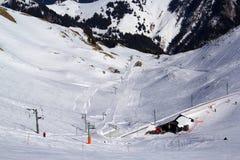 A neve cobriu montanhas Foto de Stock Royalty Free