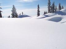 A neve cobriu montes Foto de Stock