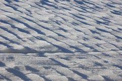 A neve cobriu o campo Imagem de Stock Royalty Free