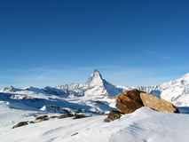 A neve cowered Matterhorn Fotos de Stock Royalty Free