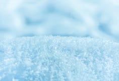 Neve, cumulo di neve, fondo naturale di inverno del primo piano Immagini Stock