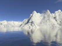 Neve da montanha Imagem de Stock