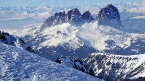 Neve da montanha video estoque