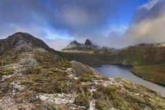 Neve da parte superior do berço de Tasmânia Mt Fotografia de Stock