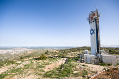 Neve Daniel water tower, west bank, israel Royalty Free Stock Photos