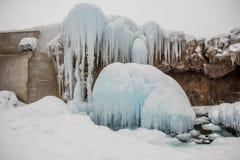 Neve de janeiro no Hokkaido, Japão fotos de stock royalty free