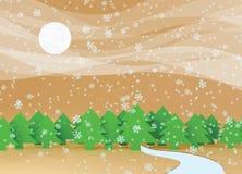 Neve de queda Imagem de Stock Royalty Free