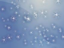 Neve de queda Fotografia de Stock Royalty Free