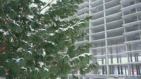 Neve de queda, movimento lento video estoque
