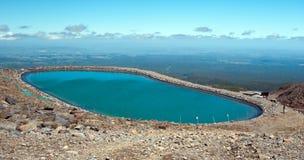 Neve de Whakapapa que faz a lagoa Imagens de Stock