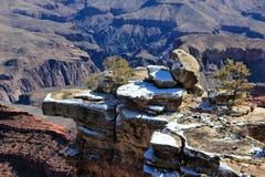 Neve del canyon grande Fotografie Stock Libere da Diritti