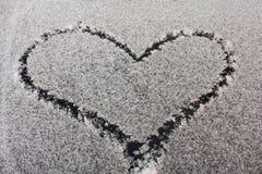Neve del cuore Immagini Stock Libere da Diritti