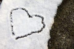 Neve del cuore Fotografie Stock