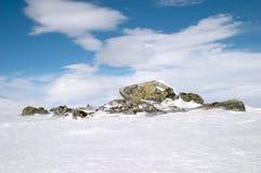 Neve del ghiaccio della roccia Fotografia Stock