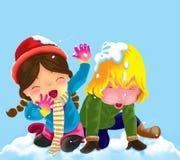 Neve del gioco. Fotografia Stock