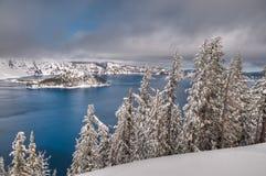 Neve del lago crater Fotografie Stock Libere da Diritti