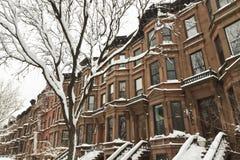 Neve del pendio della sosta Fotografia Stock Libera da Diritti