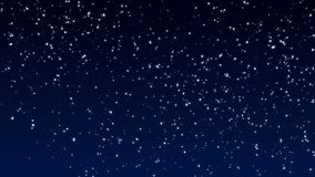 Neve delicatamente di caduta Grandi e piccoli fiocchi di neve che cadono lentamente nel vento illustrazione vettoriale