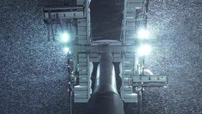 Neve dell'ascensore e di caduta di sci della cabina di funivia della gondola Ponticello della baia a San Francisco, CA Giù vista archivi video