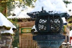 Neve della lampada Fotografia Stock Libera da Diritti