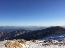 Neve della montagna della Corea Immagini Stock