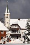 Neve della montagna di Schwarzwald Immagine Stock Libera da Diritti