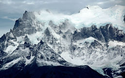 Neve della montagna di Torres Fotografie Stock