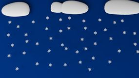Neve della nuvola Fotografie Stock