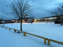 Neve della stazione immagine stock libera da diritti