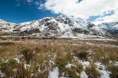 Neve delle alpi del sud, Nuova Zelanda Immagine Stock