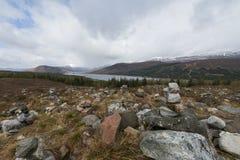 Neve delle montagne in Scozia Fotografie Stock