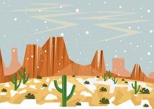 Neve in deserto Illustrazione di insolito e di raro se evento illustrazione vettoriale