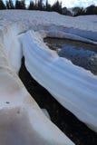 Neve di fusione nelle montagne Immagini Stock Libere da Diritti