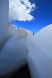 Neve di fusione nelle montagne Fotografia Stock