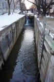 Neve di fusione sul canale di C&O Fotografie Stock