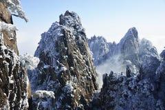 Neve di Huangshan del supporto Fotografie Stock Libere da Diritti
