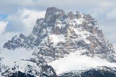Neve di inverno del picco della sommità della cima della roccia della montagna, Marmolada Sella Dolomiti, Italia Immagini Stock Libere da Diritti