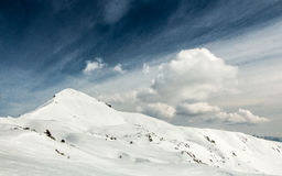 Neve di inverno sul supporto Sodadura Fotografia Stock