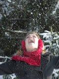 Neve di lancio Fotografia Stock Libera da Diritti