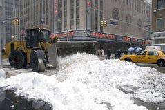 Neve di New York City Fotografia Stock