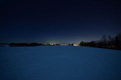 Neve di Nightscape Fotografie Stock