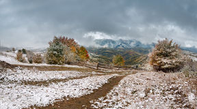 Neve di ottobre Fotografie Stock